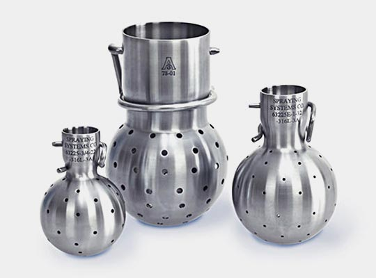TankJet® 63225 og 63225-3A brusekugler til tankrengøring