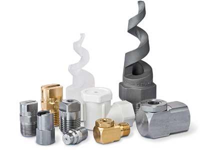 Væskedyser i mere end 35 forskellige materialer